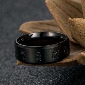 Bague tibet noir