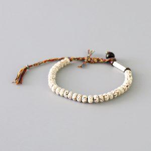 Bracelet tibétain blanc